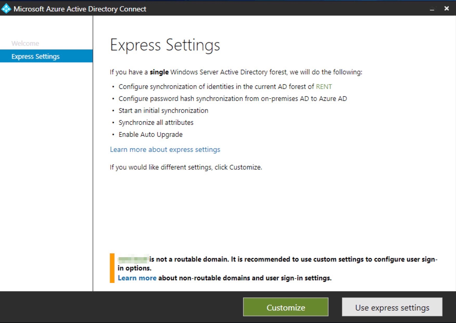 Configure Azure AD Connect with SSO, Password Writeback and