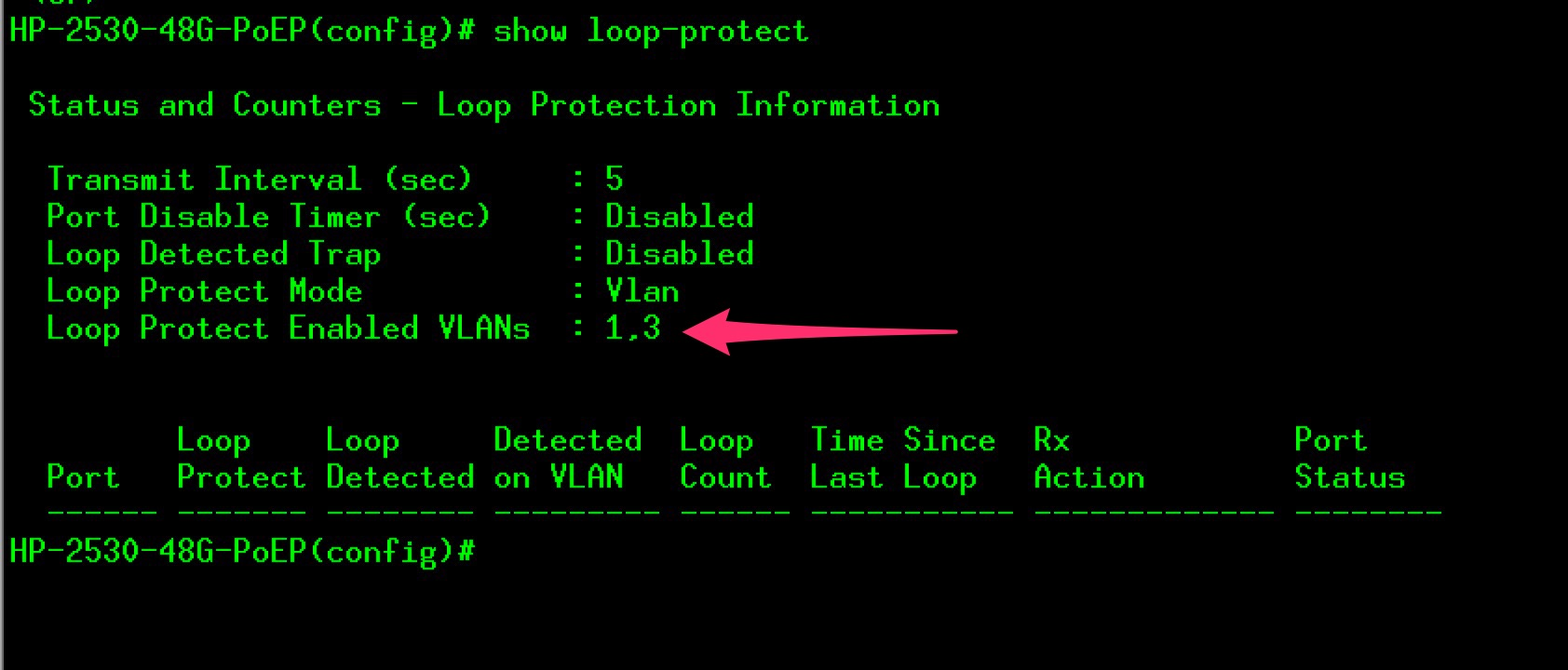 Hpe Aruba and loop-protect | Marco Schiavon